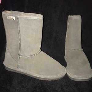 New Bearpaw Emma Short grey warm winter boots